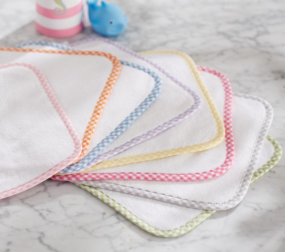 Gingham Washcloth, Set of 3