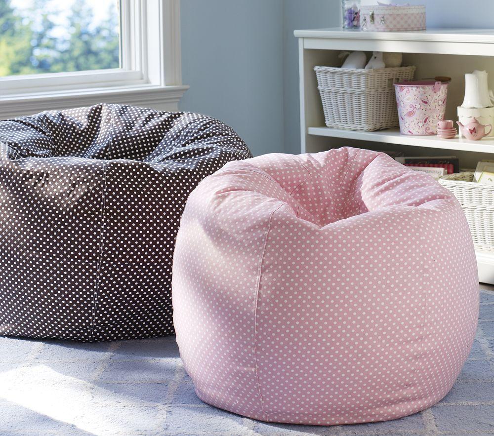 Light pink bean bag chair - Light Pink Mini Dot Anywhere Beanbag