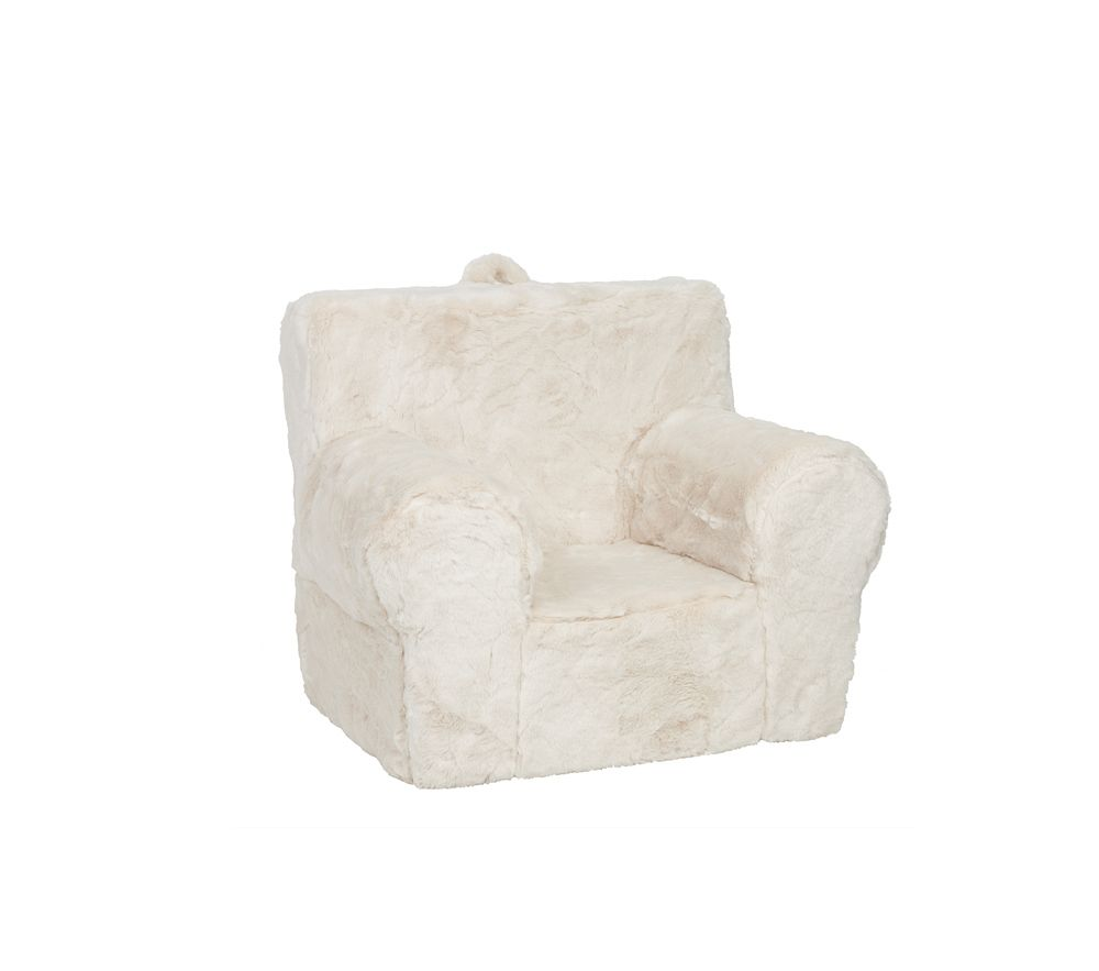Ivory Faux Fur Anywhere Chair Pottery Barn Kids