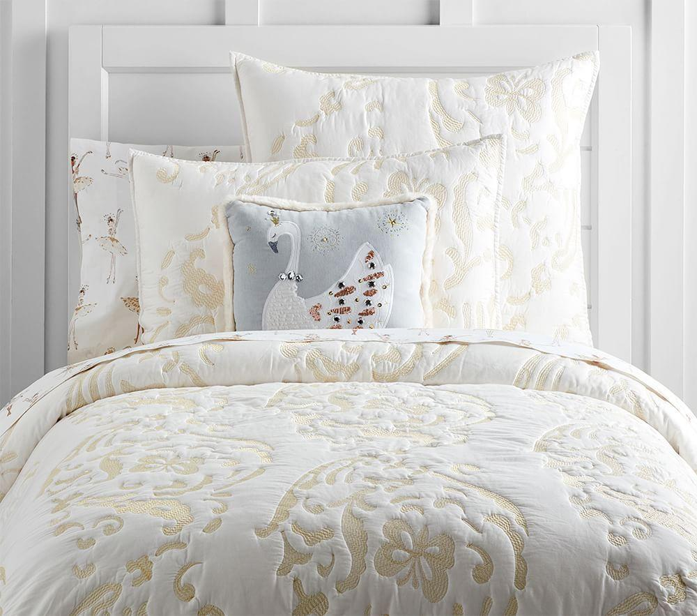 Adrienne Embroidered Quilted Bedding Pottery Barn Kids