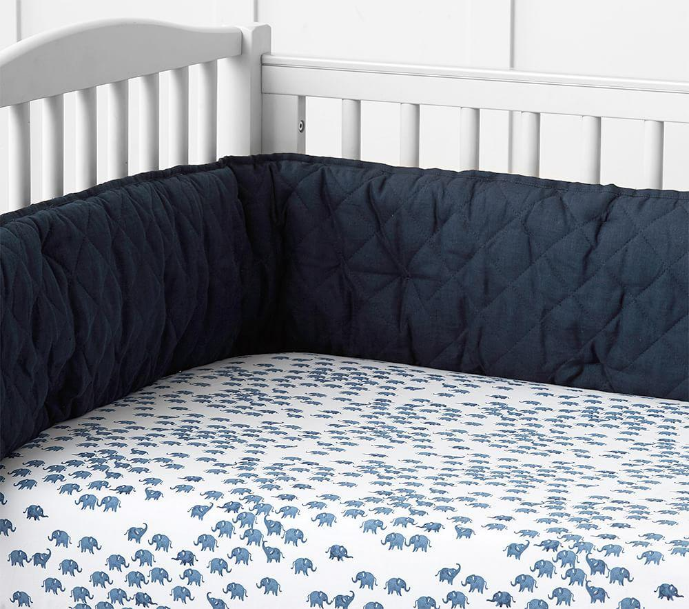 organic elephant cot fitted sheet pottery barn kids. Black Bedroom Furniture Sets. Home Design Ideas