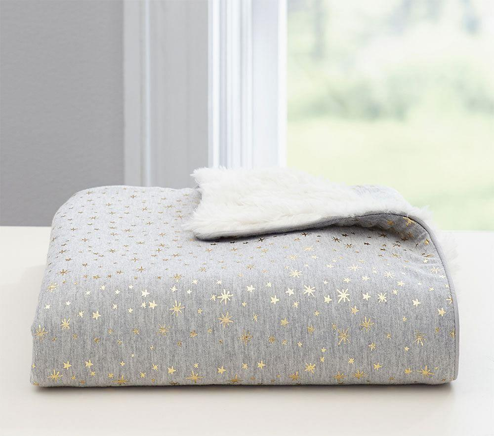 Gold Star Sherpa Baby Blanket Pottery Barn Kids