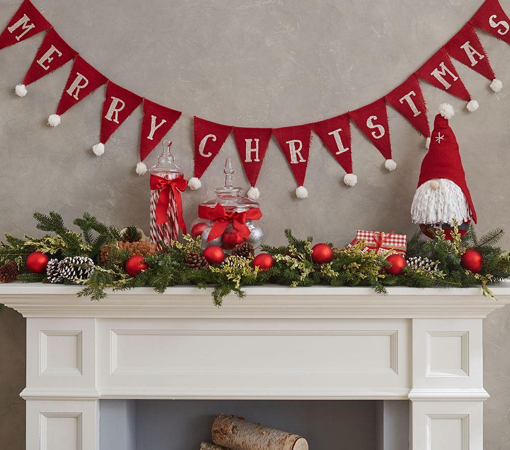 Holiday Decor Gift Ideas Pottery Barn Edition All My: Merry Christmas Bunting Garland