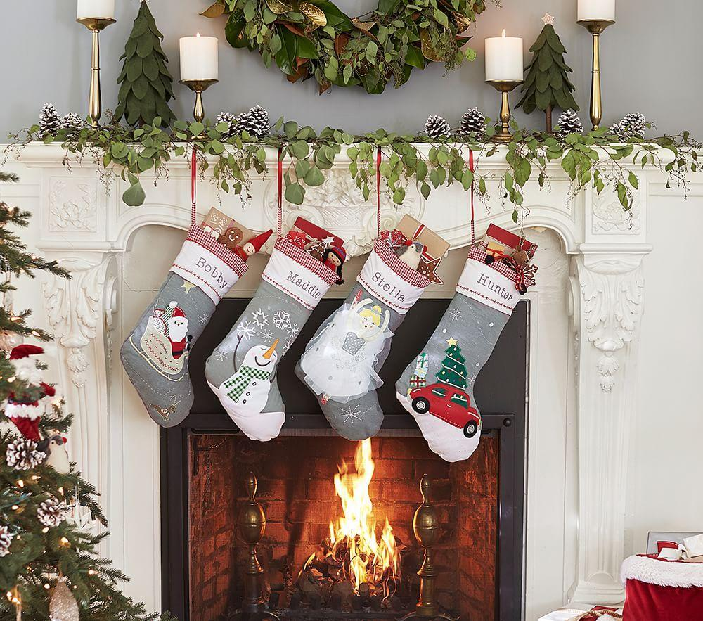 Quilted Stocking Collection Pottery Barn Kids