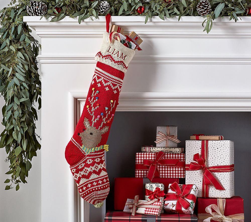 Merry Amp Bright Stockings Pottery Barn Kids