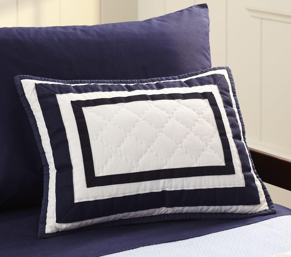 Harper Quilted Cushion Cover - Navy