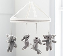 Harper Grey Elephant Mobile