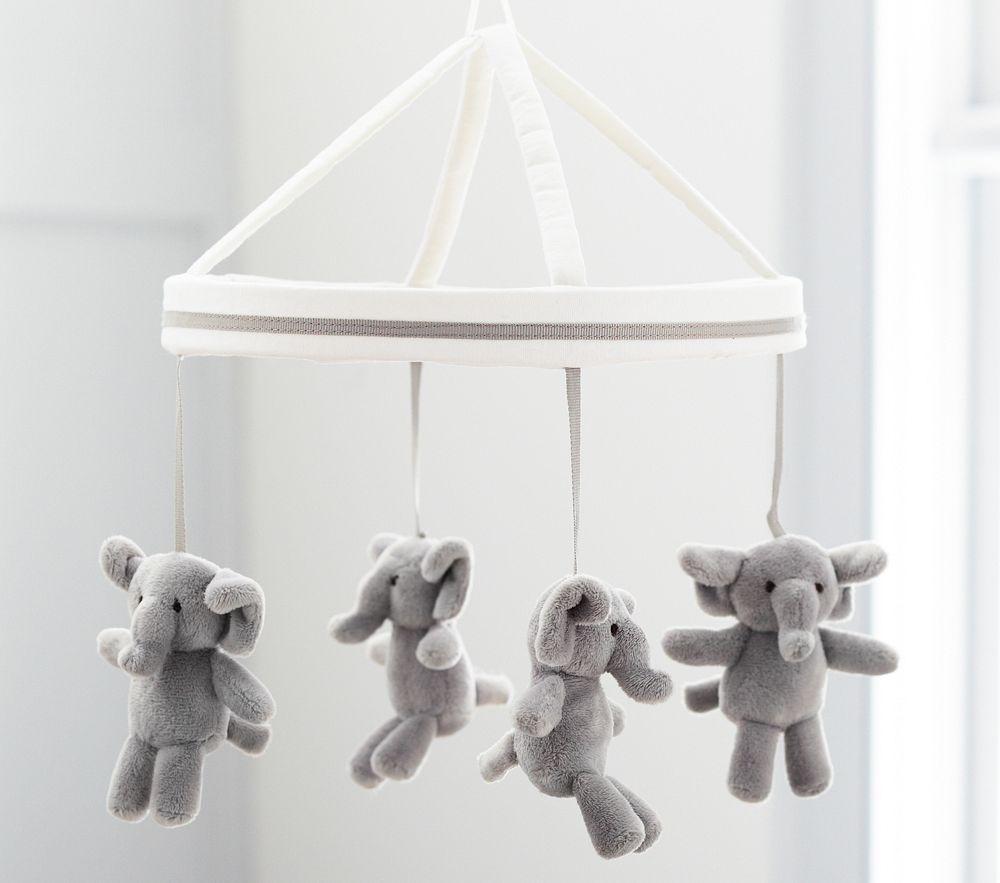 Harper Grey Elephant Mobile