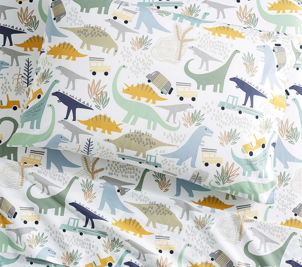 Organic Mason Dino Friends Sheet Set Pottery Barn Kids