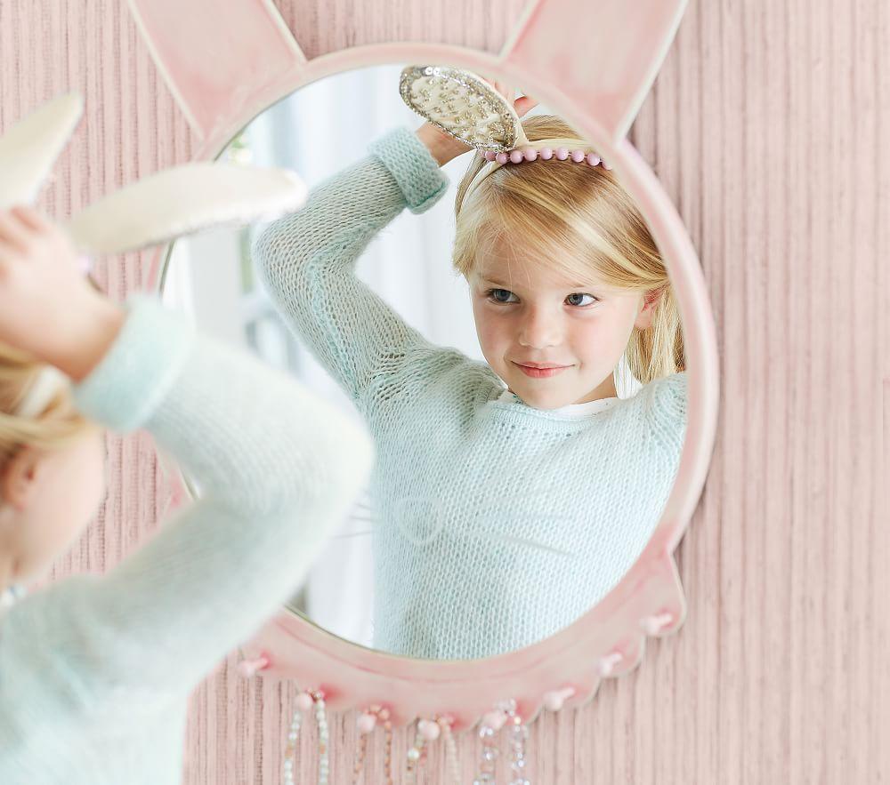 Pink Ceramic Bunny Mirror Pottery Barn Kids Au
