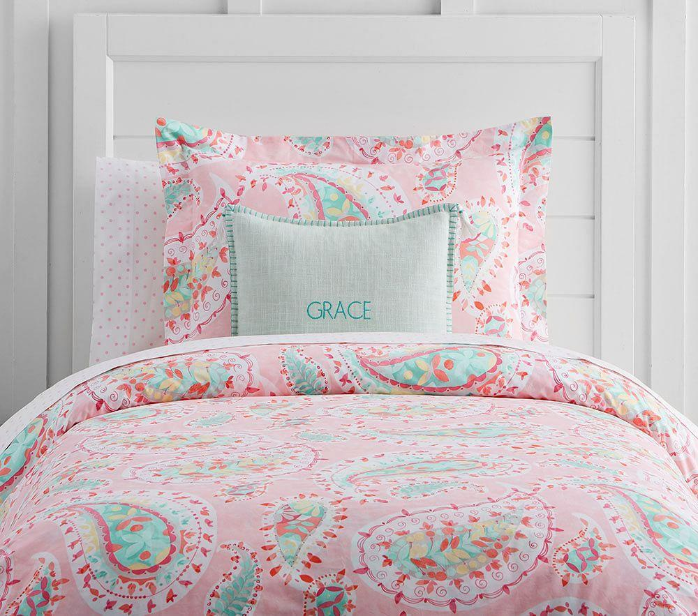 Organic Bedroom Furniture Organic Paisley Quilt Cover Pottery Barn Kids