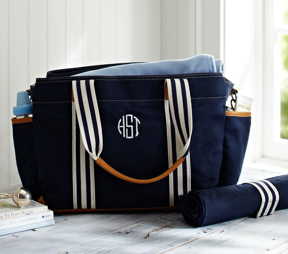 Navy Classic Mom Nappy Bag