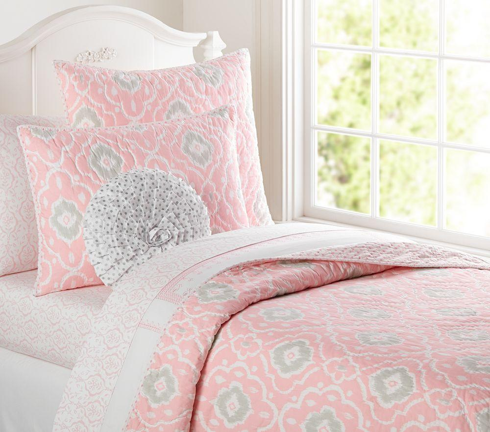 Pottery Barn Girls Bedrooms Claire Quilted Bedding Pottery Barn Kids