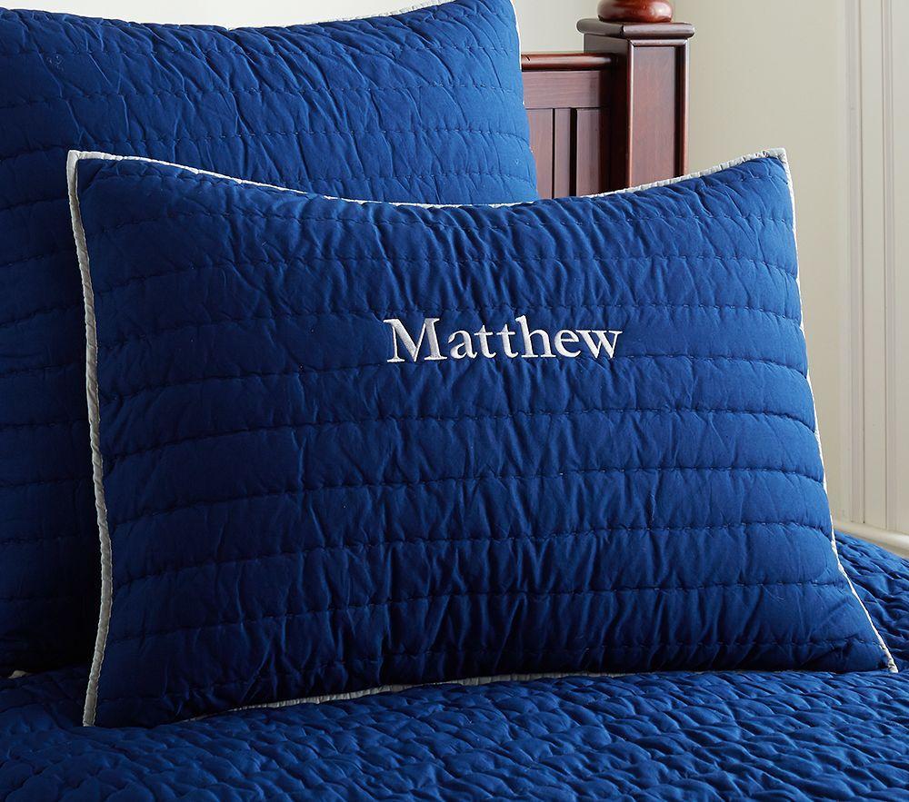 Branson Comforter, Navy/Grey
