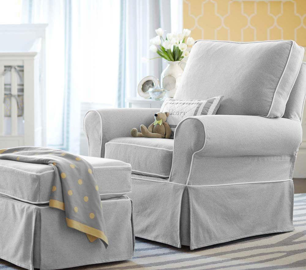 PB Kids® Comfort Ottoman - Recycled Cotton, Dove Grey