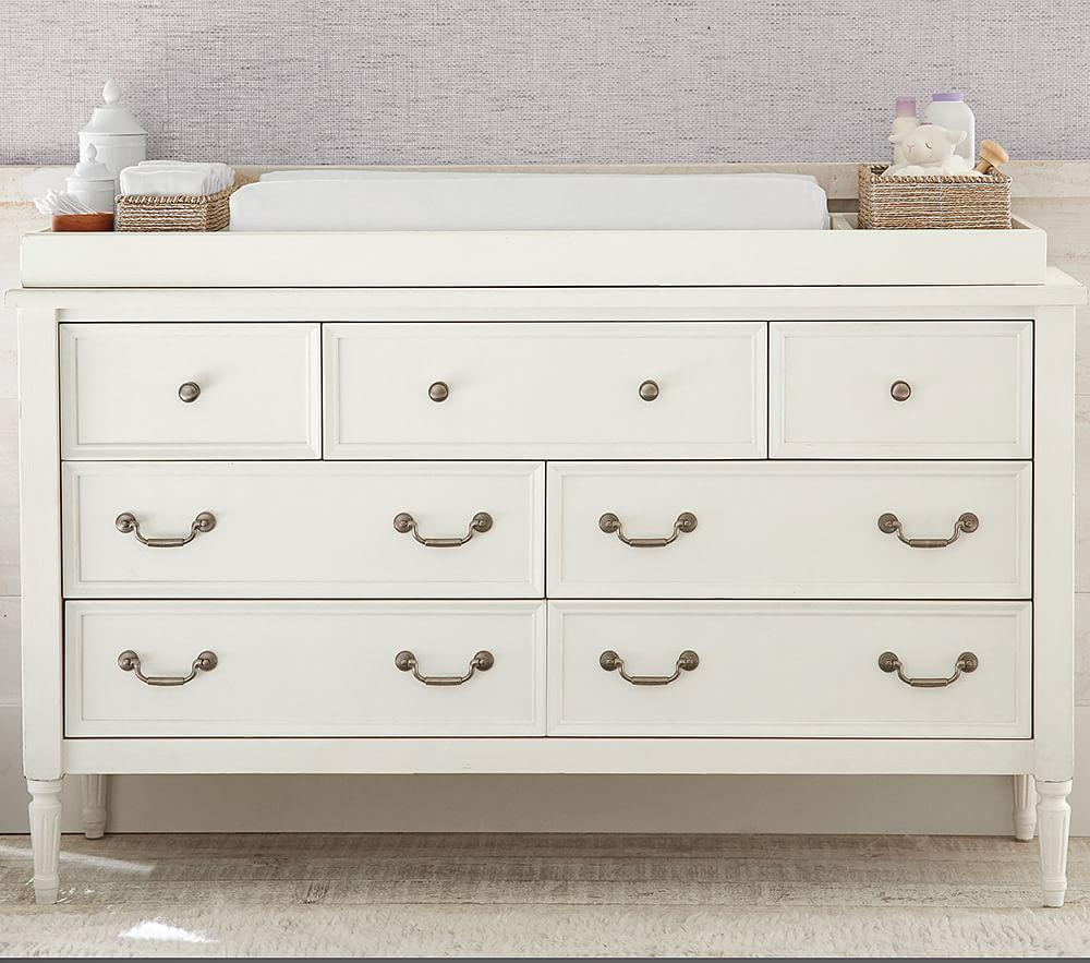 Blythe Extra-Wide Dresser & Change Table Topper - French White