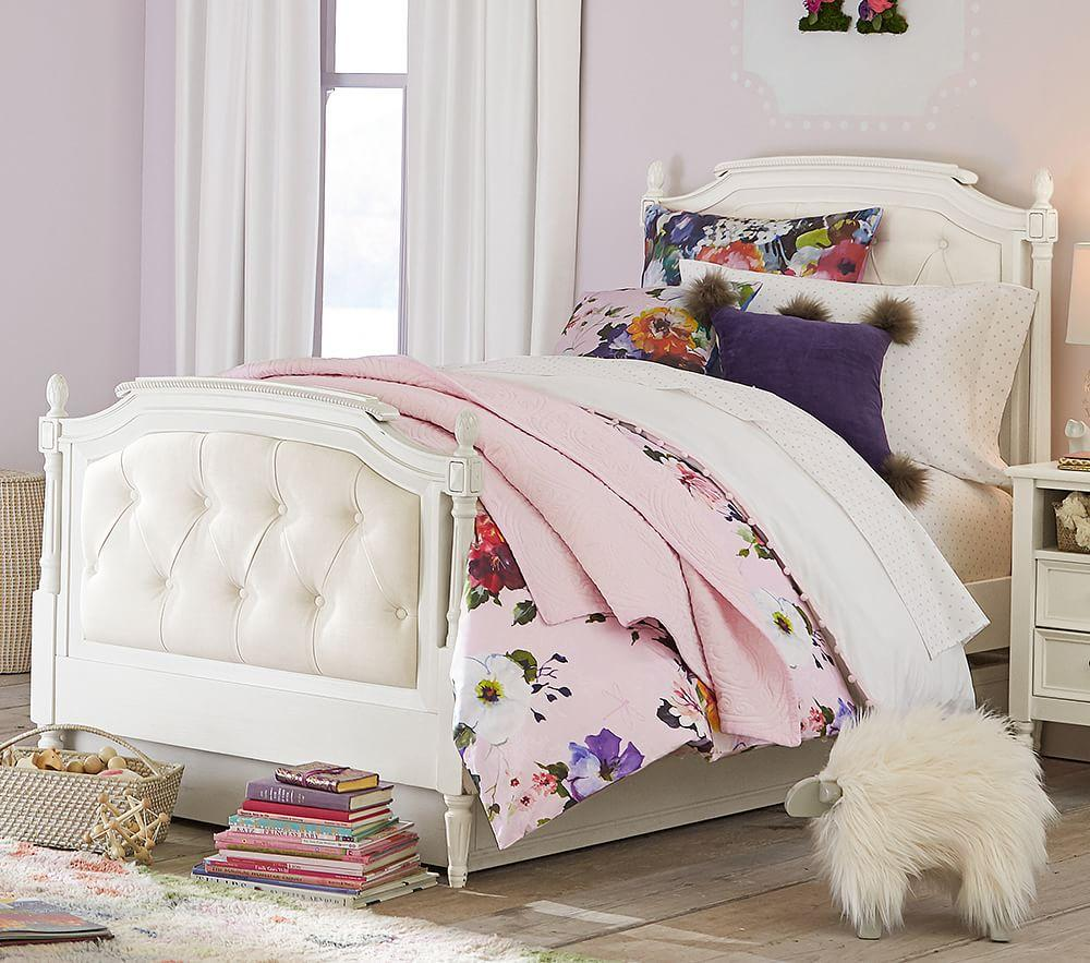 Blythe Tufted Bed - French White