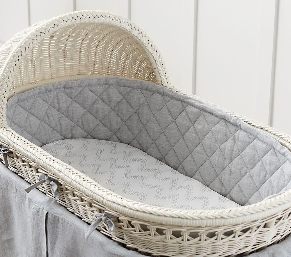 Bassinet Amp Mattress Pad Set Simply White Pottery Barn