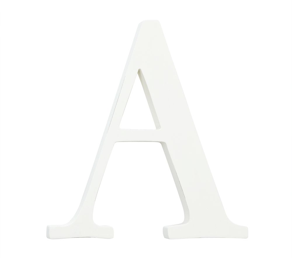 White Capital Letters