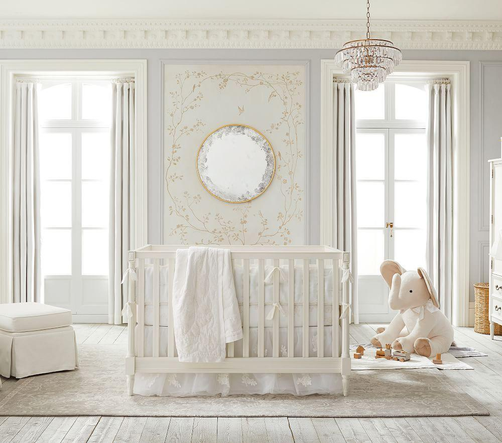 Monique Lhuillier Ivory Baby Bedding Pottery Barn Kids