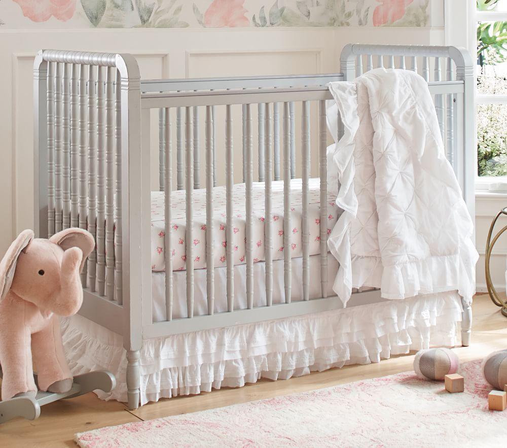 Organic Sadie Ruffle Baby Bedding Pottery Barn Kids Au