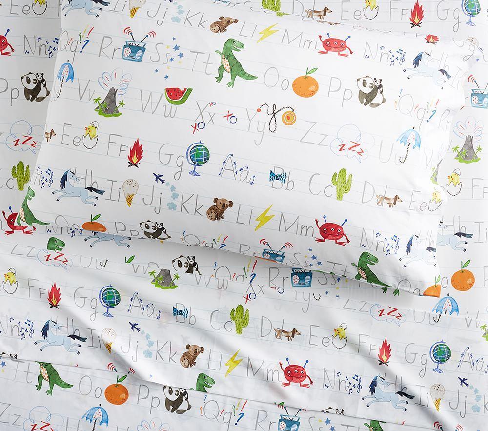 Organic Abc Sheet Set Pottery Barn Kids