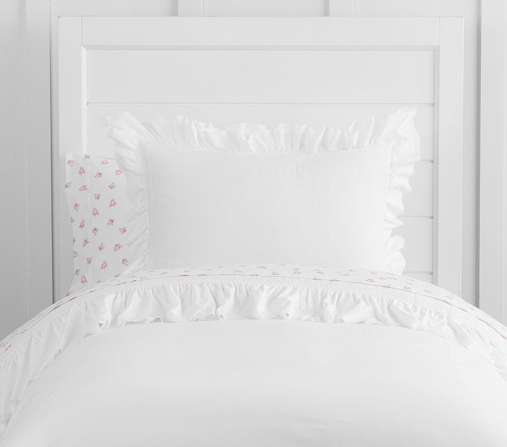 Organic Sadie Ruffle Quilt Cover Pottery Barn Kids Au