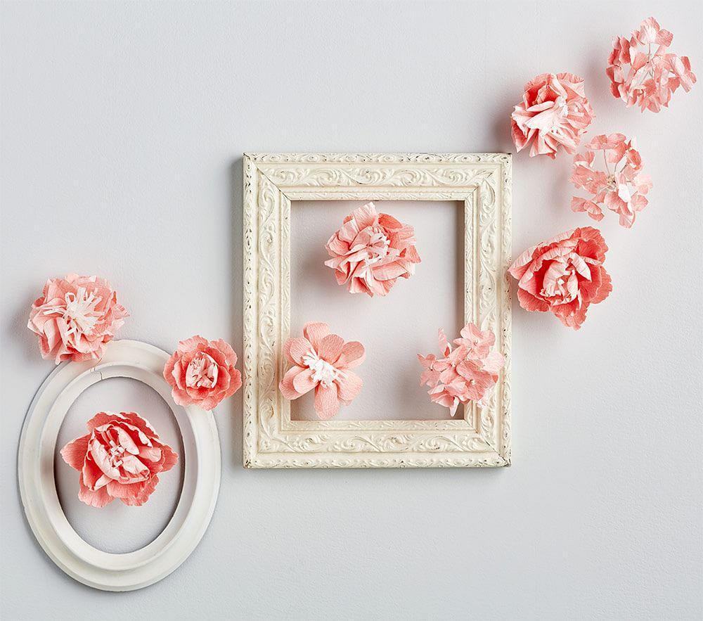 Pink Mixed Flower Wall Decor
