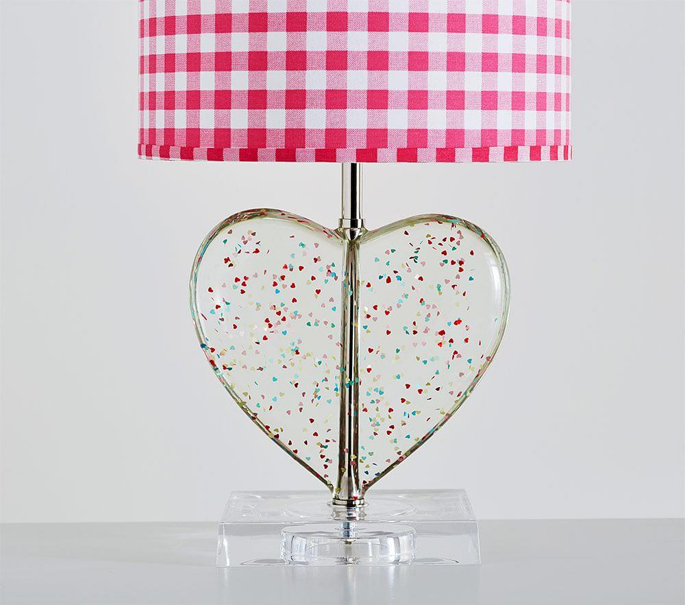 Confetti Heart Lamp Base Pottery Barn Kids Au