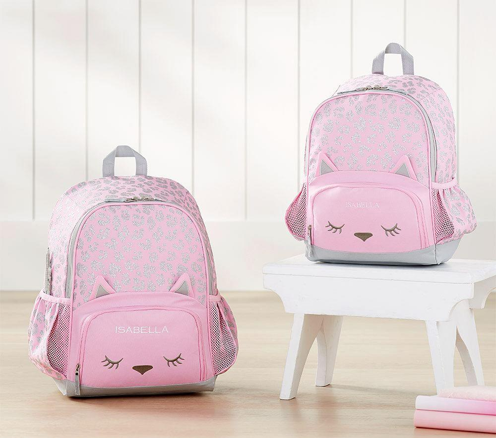 Mackenzie Pink Glitter Kitty Backpack Pottery Barn Kids