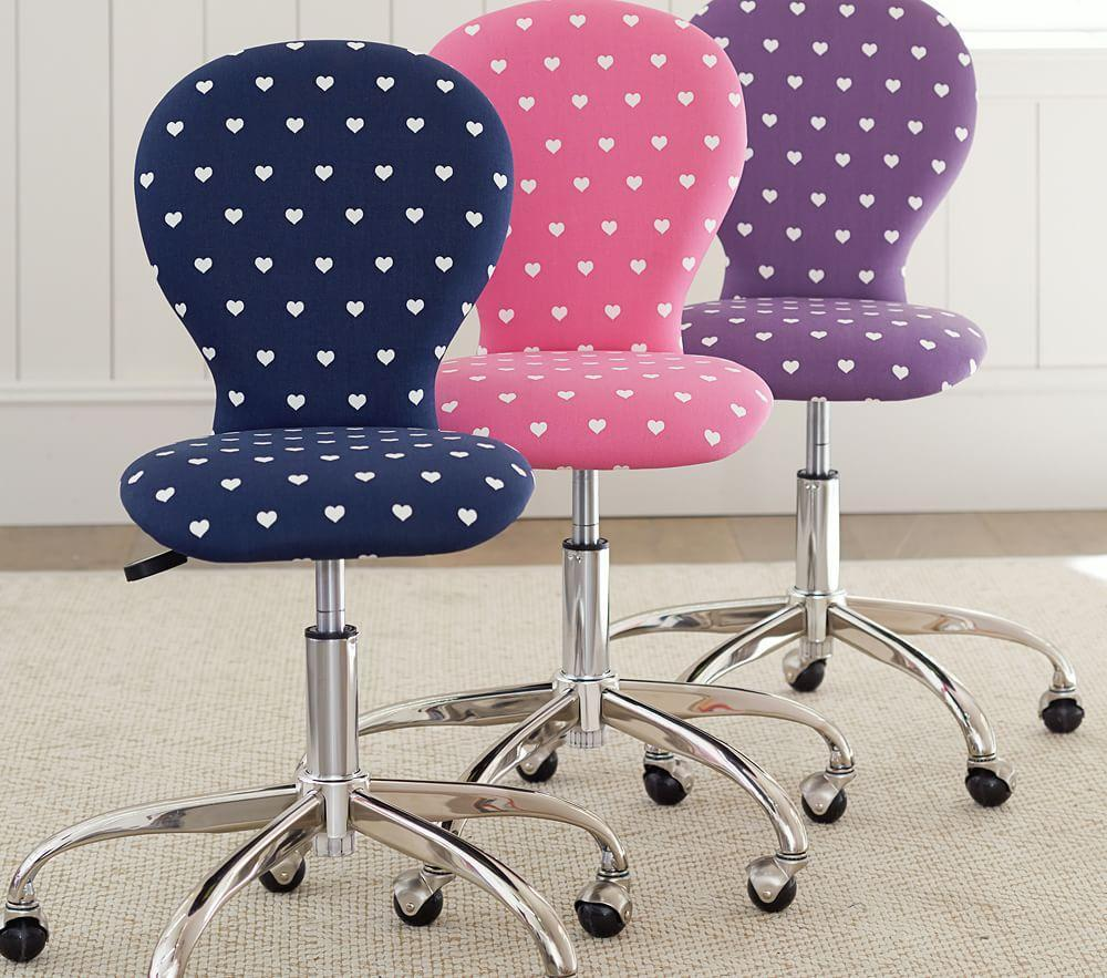 Round Upholstered Task Chair Pottery Barn Kids