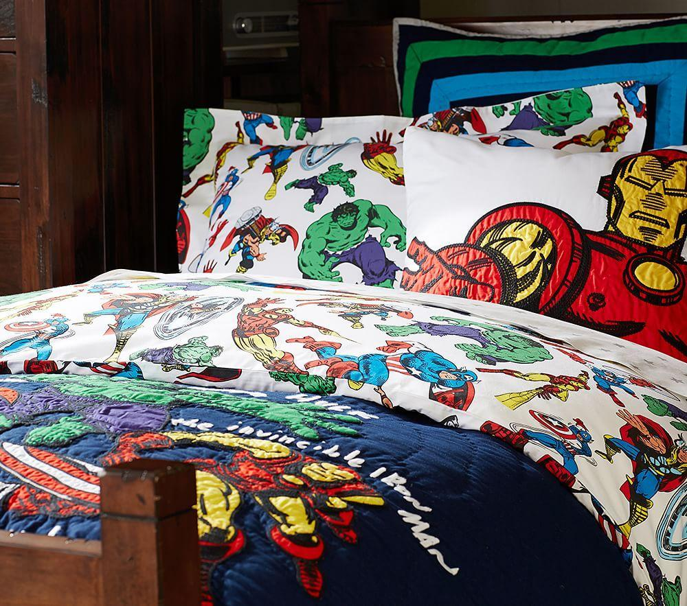 Marvel™ Quilt Cover | Pottery Barn Kids : marvel quilt cover - Adamdwight.com