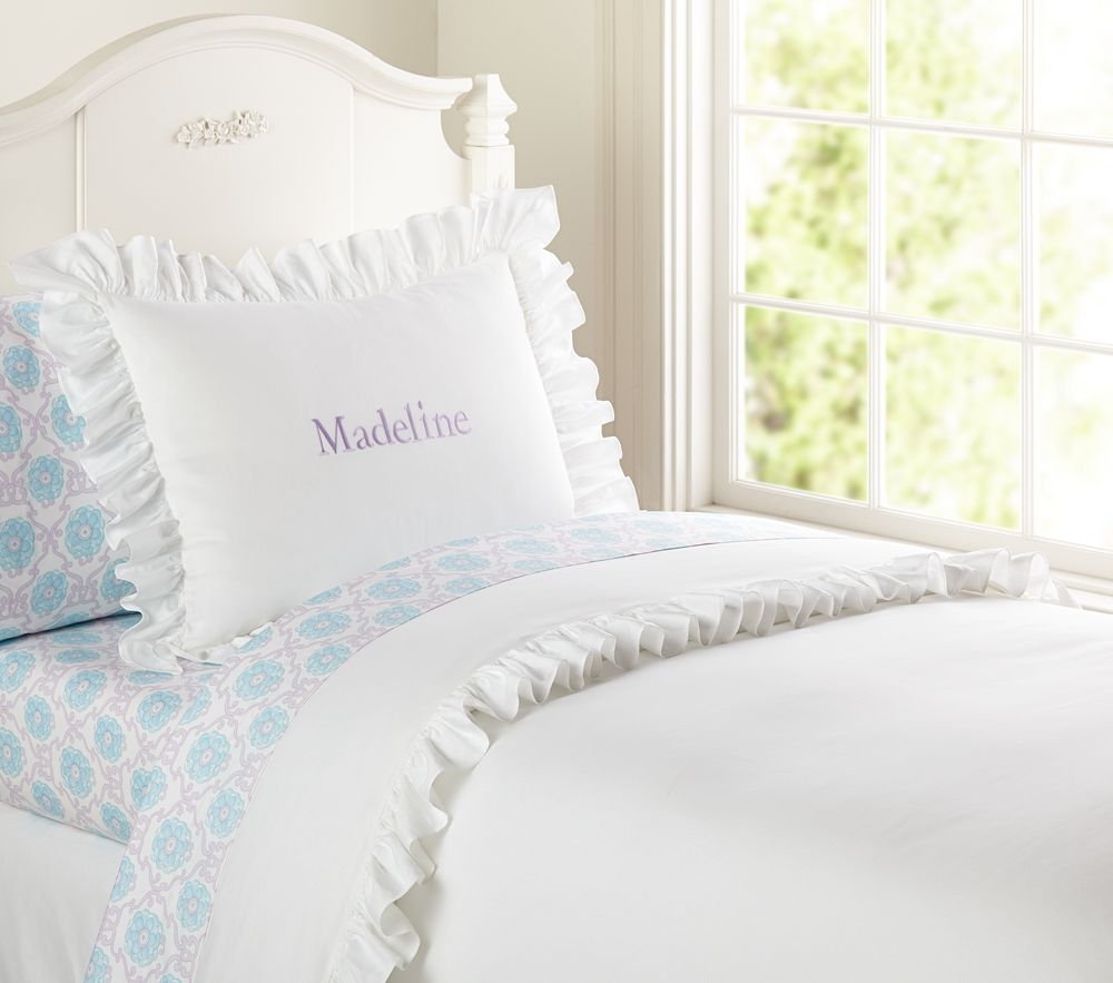 Ruffle Collection Quilt Cover White Pottery Barn Kids