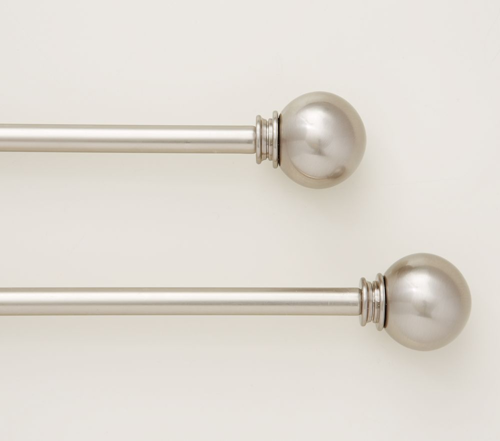 Round Nickel Finish Finials & Hardware