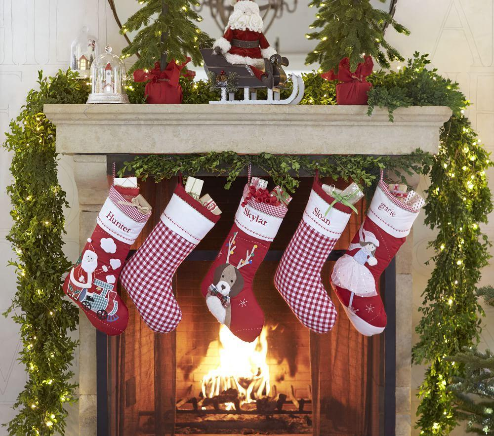 Santa With Presents Quilted Stocking | Pottery Barn Kids : pottery barn quilted stocking - Adamdwight.com