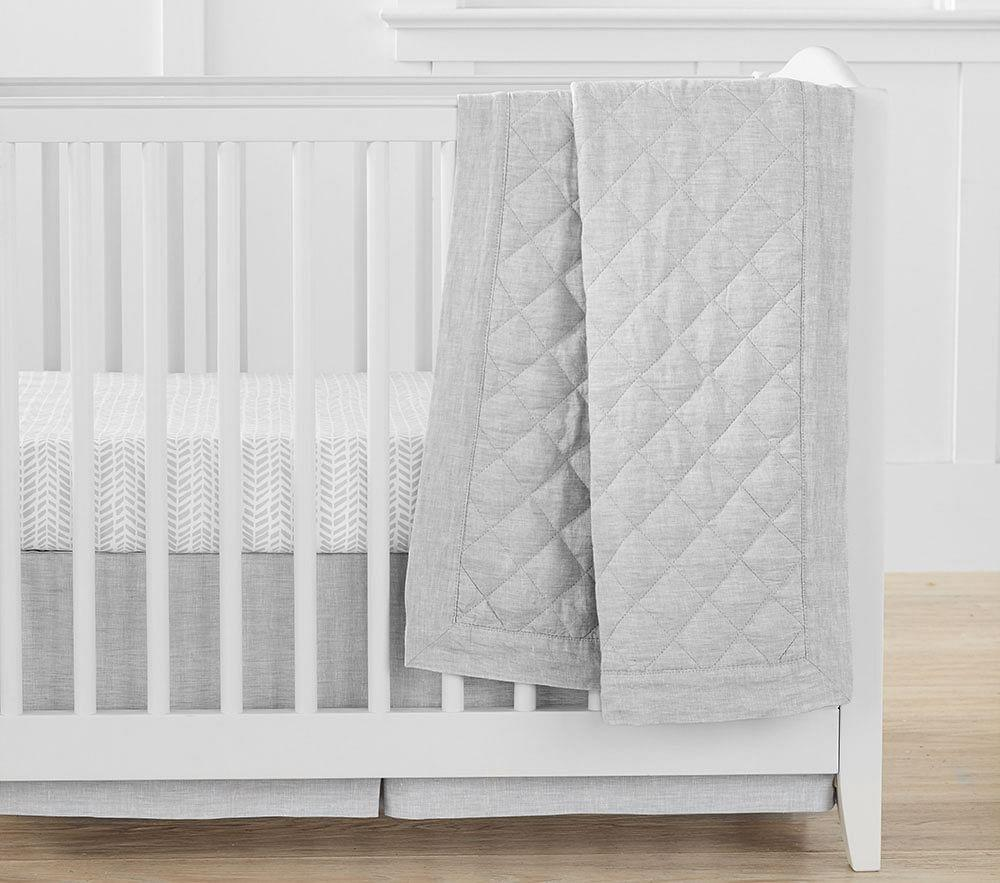Organic Sateen Arrow Mini Crib Fitted Sheet