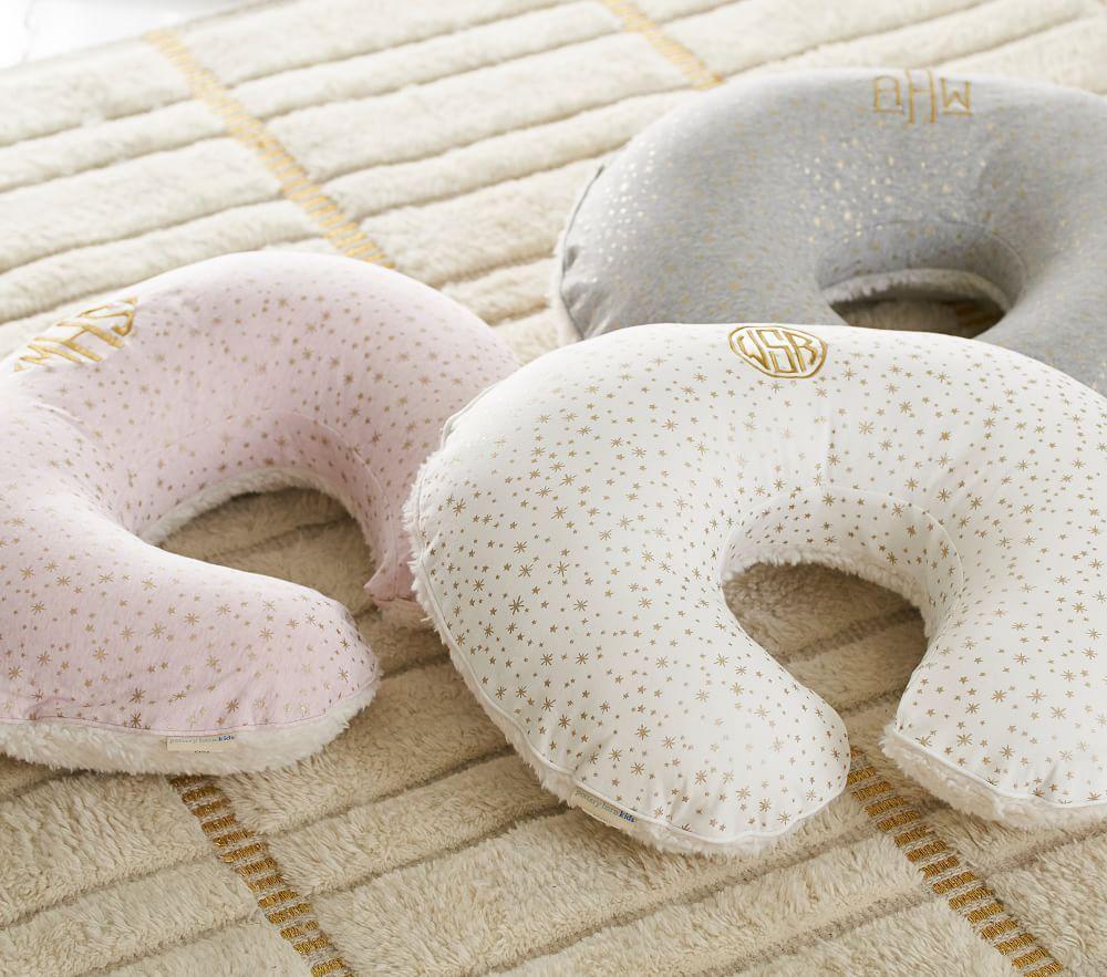 Pink Metallic Star Boppy® Pillow & Slipcover
