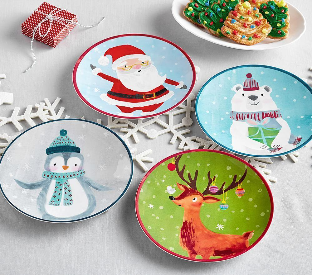 Merry Amp Bright Christmas Plates Pottery Barn Kids