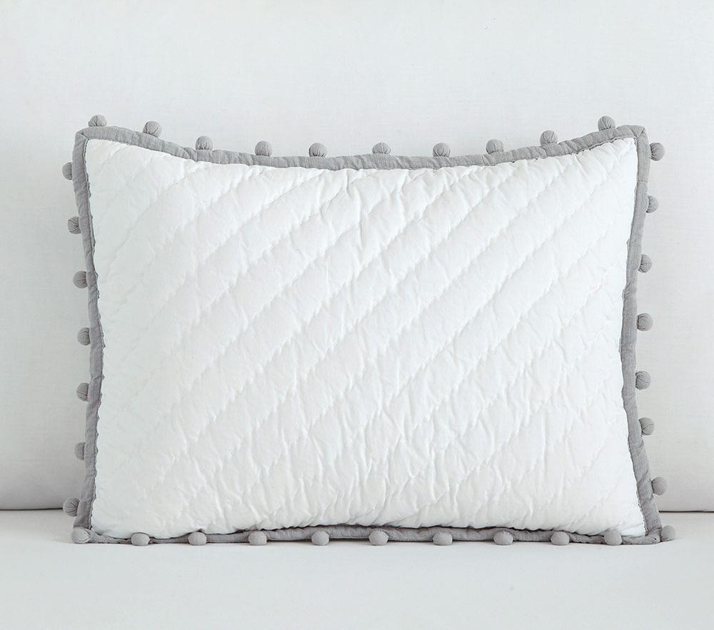 Organic Pom Pom Cushion Covers