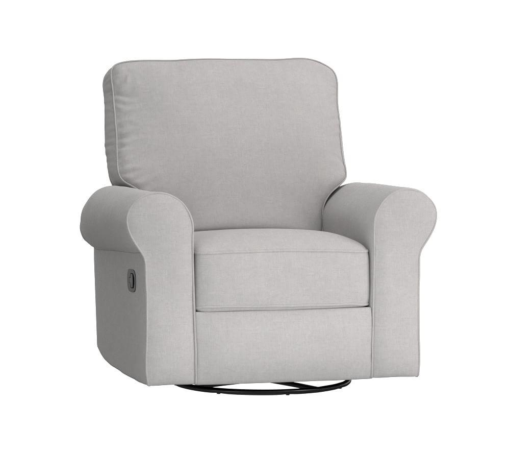 Comfort Swivel Rocker & Recliner - Linen Blend, Grey