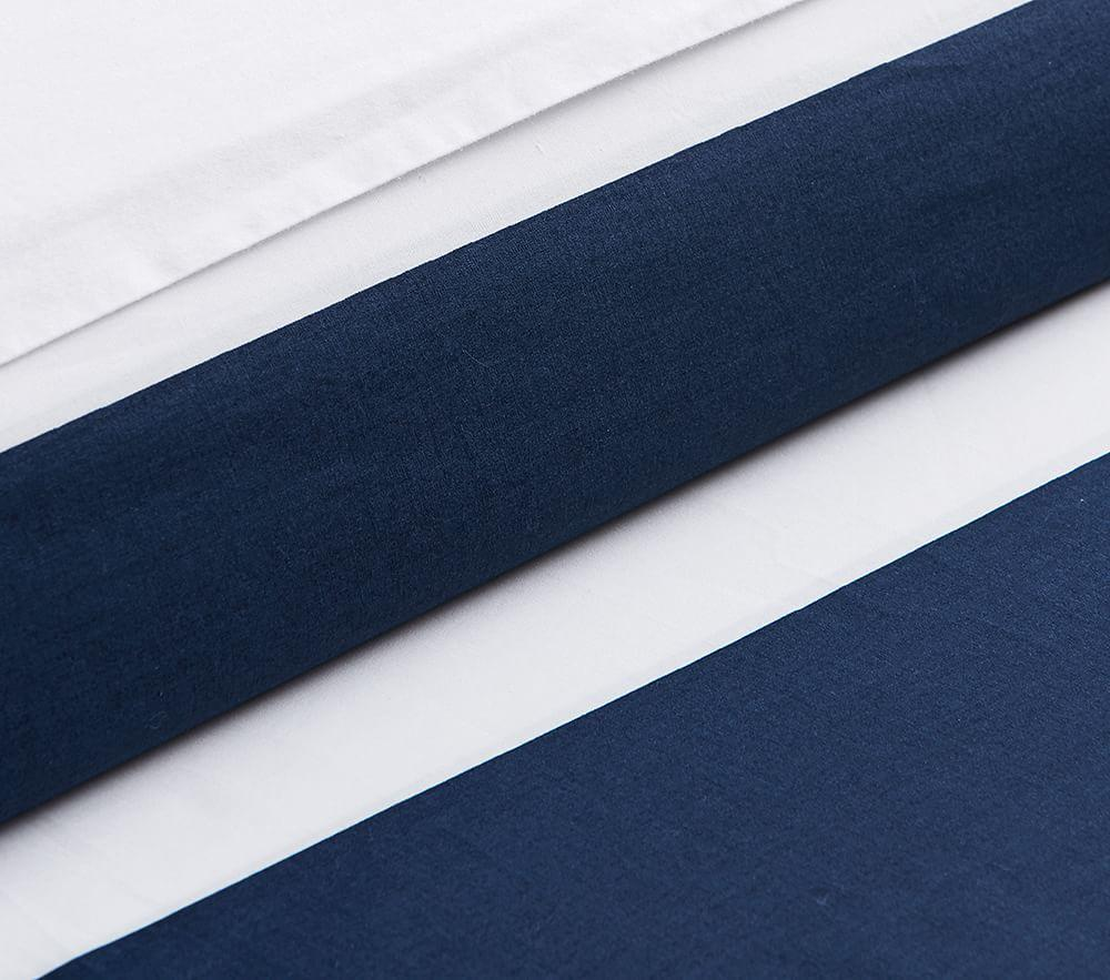 Rugby Stripe Quilt Cover Blue Pottery Barn Kids Au