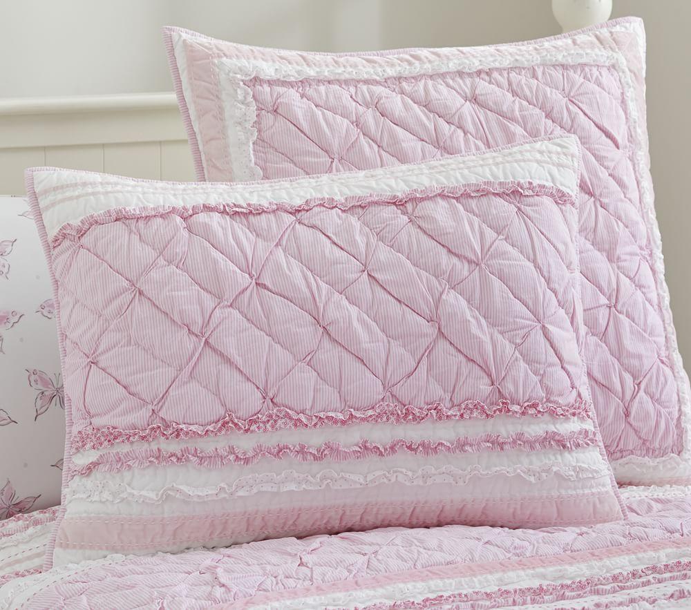Brigette Ruffle Comforter Pink Pottery Barn Kids Au