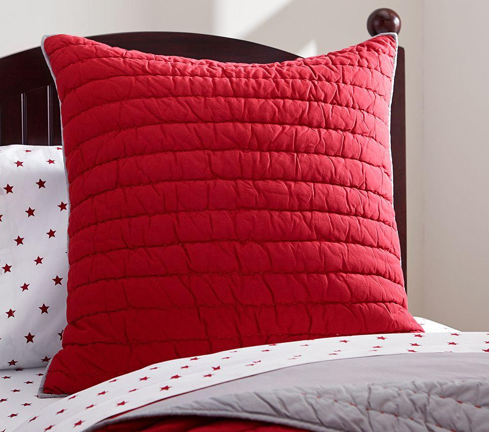 Branson Comforter Red Grey Pottery Barn Kids Au