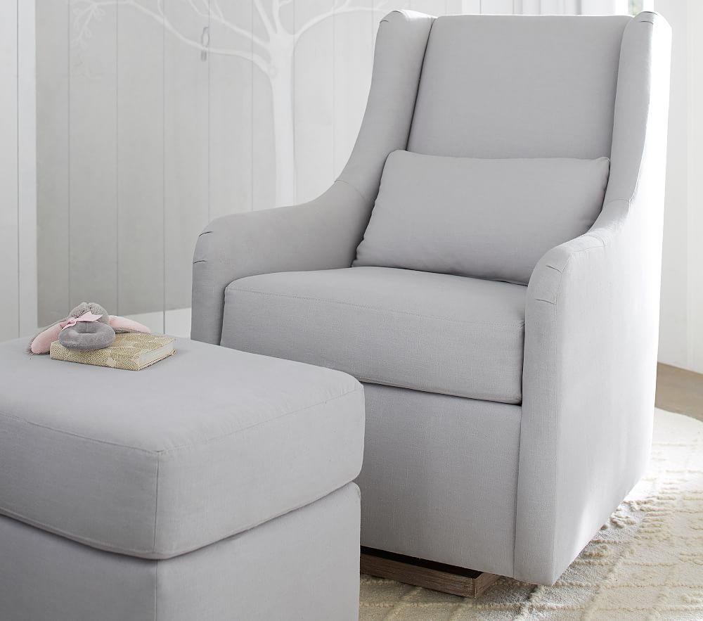 Merced Glider - Linen Blend, Grey