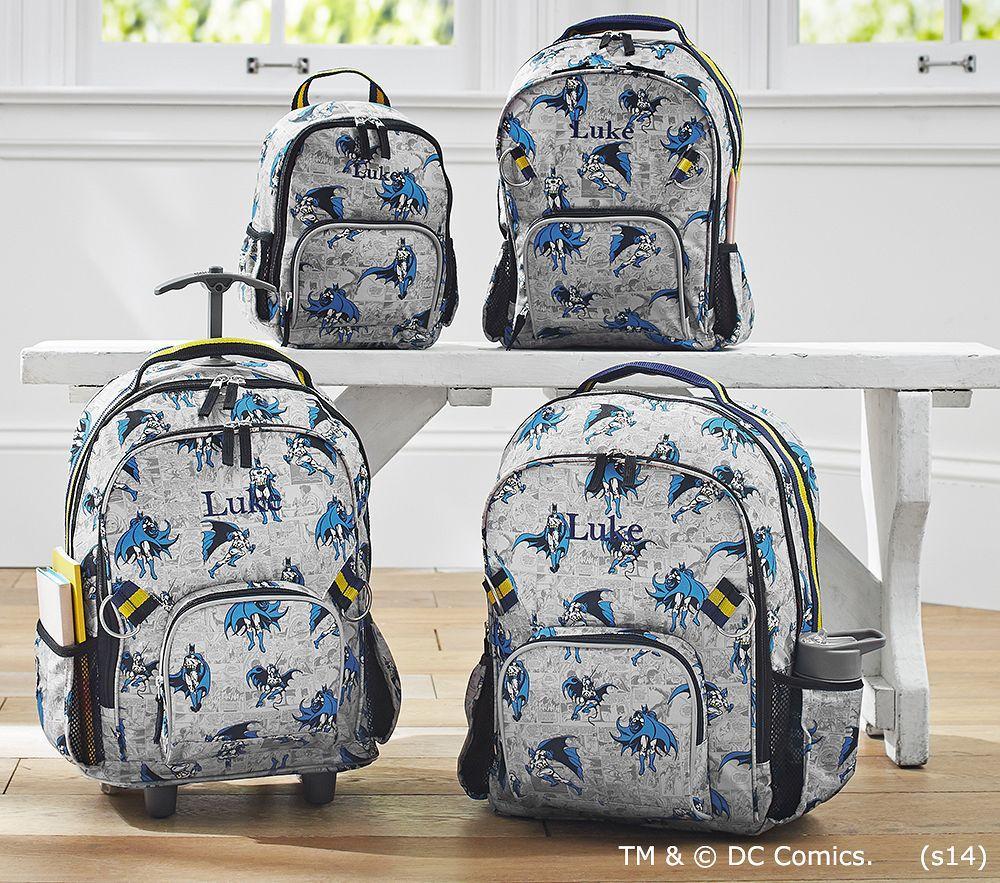 Allover Batman Backpacks Pottery Barn Kids