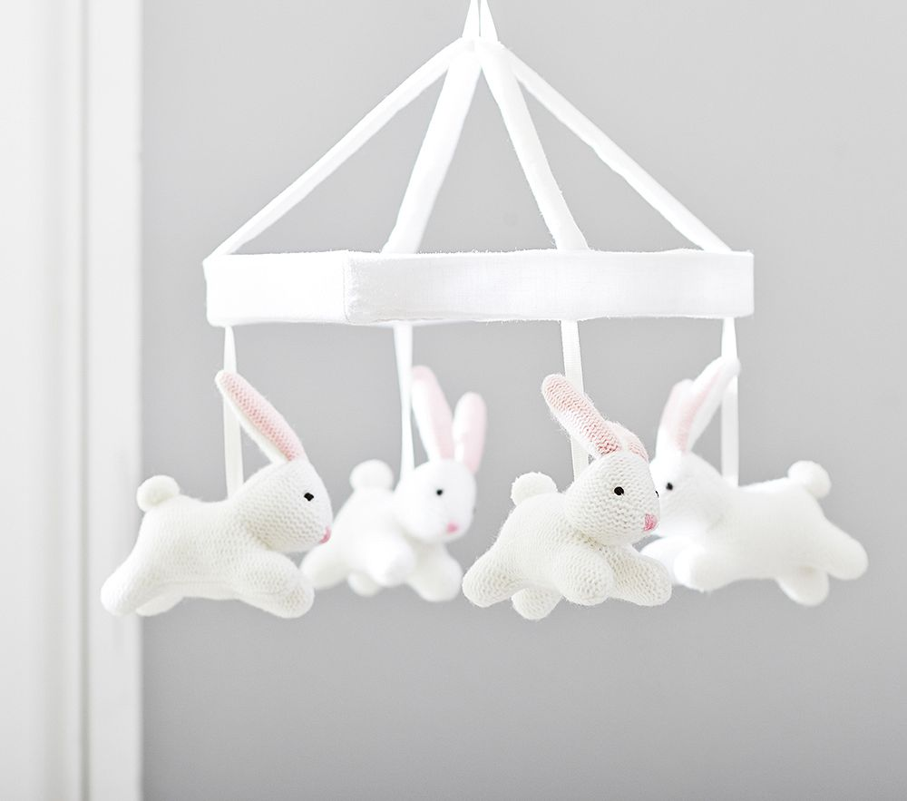 Bunny Knit Cot Mobile Pottery Barn Kids Au
