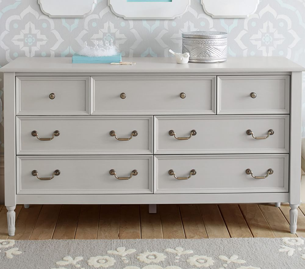 Blythe Extra-Wide Dresser & Changing Table Topper - Vintage Grey