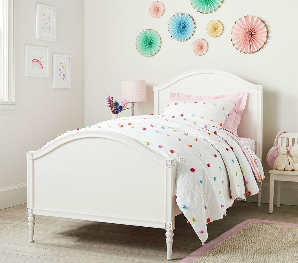 Avery Bed - Matte White