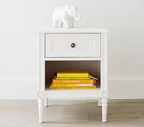 Avery Bedside Table - Matte White