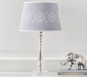Lighting lamps bases shades lights for kids pottery barn kids chambray eyelet lampshade aloadofball Image collections